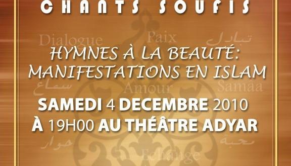 Concert de chants soufis au théâtre Adyar samedi 4 décembre 2010