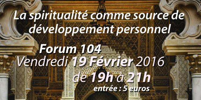 Atelier VSMF Vendredi 19 février : La spiritualité comme source de développement personnel