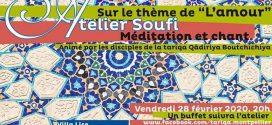 Atelier Soufi : sur le thème de «l'Amour» – Montpellier